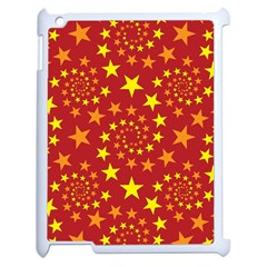 Star Stars Pattern Design Apple Ipad 2 Case (white) by Nexatart