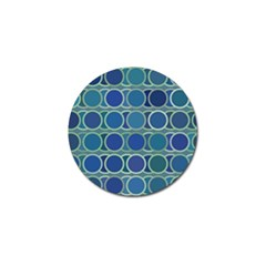 Circles Abstract Blue Pattern Golf Ball Marker by Nexatart