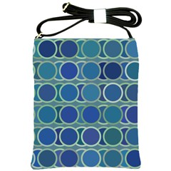 Circles Abstract Blue Pattern Shoulder Sling Bags by Nexatart