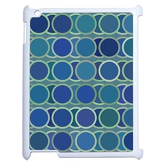 Circles Abstract Blue Pattern Apple Ipad 2 Case (white) by Nexatart