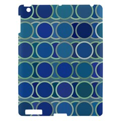 Circles Abstract Blue Pattern Apple Ipad 3/4 Hardshell Case