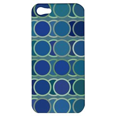 Circles Abstract Blue Pattern Apple Iphone 5 Hardshell Case