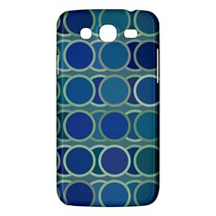 Circles Abstract Blue Pattern Samsung Galaxy Mega 5 8 I9152 Hardshell Case  by Nexatart
