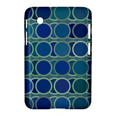 Circles Abstract Blue Pattern Samsung Galaxy Tab 2 (7 ) P3100 Hardshell Case  by Nexatart