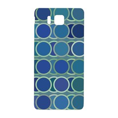 Circles Abstract Blue Pattern Samsung Galaxy Alpha Hardshell Back Case by Nexatart