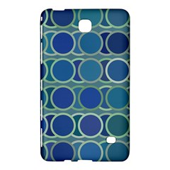 Circles Abstract Blue Pattern Samsung Galaxy Tab 4 (8 ) Hardshell Case  by Nexatart