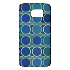 Circles Abstract Blue Pattern Galaxy S6 by Nexatart