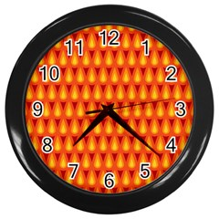 Simple Minimal Flame Background Wall Clocks (black) by Nexatart