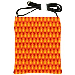 Simple Minimal Flame Background Shoulder Sling Bags by Nexatart