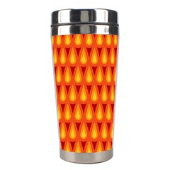 Simple Minimal Flame Background Stainless Steel Travel Tumblers by Nexatart