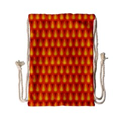 Simple Minimal Flame Background Drawstring Bag (small) by Nexatart