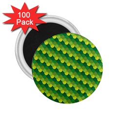 Dragon Scale Scales Pattern 2 25  Magnets (100 Pack)  by Nexatart