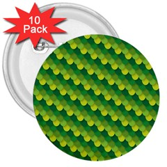 Dragon Scale Scales Pattern 3  Buttons (10 Pack)  by Nexatart