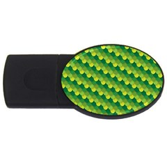 Dragon Scale Scales Pattern Usb Flash Drive Oval (4 Gb) by Nexatart
