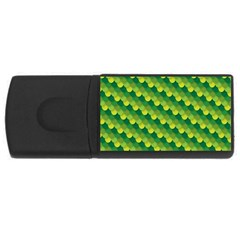 Dragon Scale Scales Pattern Usb Flash Drive Rectangular (4 Gb) by Nexatart
