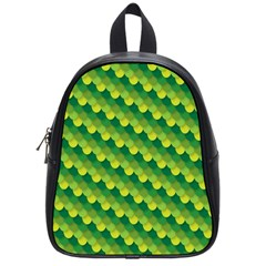 Dragon Scale Scales Pattern School Bags (small)  by Nexatart