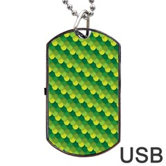 Dragon Scale Scales Pattern Dog Tag Usb Flash (two Sides)