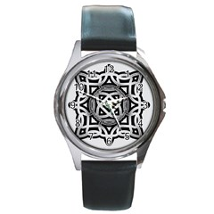 Celtic Draw Drawing Hand Draw Round Metal Watch