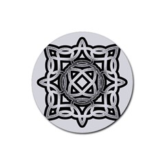 Celtic Draw Drawing Hand Draw Rubber Coaster (round)  by Nexatart