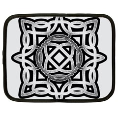 Celtic Draw Drawing Hand Draw Netbook Case (large) by Nexatart