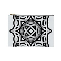 Celtic Draw Drawing Hand Draw Cosmetic Bag (large)  by Nexatart