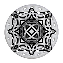 Celtic Draw Drawing Hand Draw Round Filigree Ornament (two Sides) by Nexatart