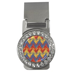 Aztec Traditional Ethnic Pattern Money Clips (cz)