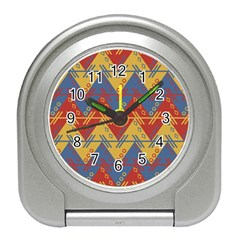 Aztec Traditional Ethnic Pattern Travel Alarm Clocks by Nexatart
