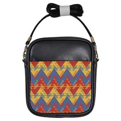 Aztec Traditional Ethnic Pattern Girls Sling Bags by Nexatart