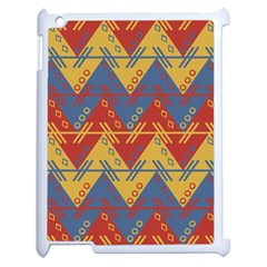 Aztec Traditional Ethnic Pattern Apple Ipad 2 Case (white) by Nexatart