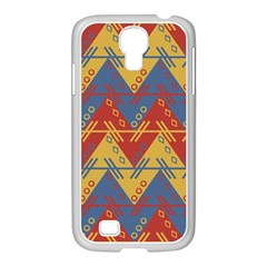 Aztec Traditional Ethnic Pattern Samsung Galaxy S4 I9500/ I9505 Case (white)