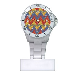 Aztec Traditional Ethnic Pattern Plastic Nurses Watch by Nexatart