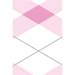 Tablecloth Stripes Diamonds Pink 5 5  X 8 5  Notebooks by Nexatart