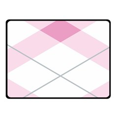Tablecloth Stripes Diamonds Pink Fleece Blanket (small)