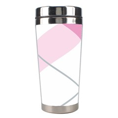 Tablecloth Stripes Diamonds Pink Stainless Steel Travel Tumblers by Nexatart