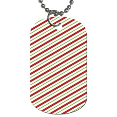 Stripes Striped Design Pattern Dog Tag (two Sides) by Nexatart