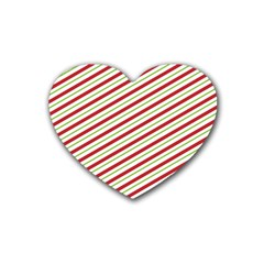 Stripes Striped Design Pattern Rubber Coaster (heart)  by Nexatart