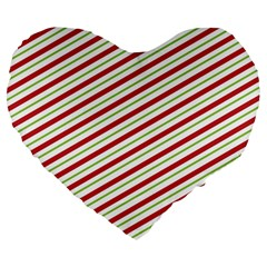 Stripes Striped Design Pattern Large 19  Premium Flano Heart Shape Cushions by Nexatart