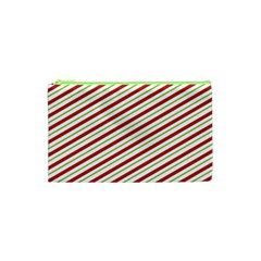 Stripes Striped Design Pattern Cosmetic Bag (xs) by Nexatart
