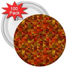 Gold Mosaic Background Pattern 3  Buttons (100 Pack)  by Nexatart