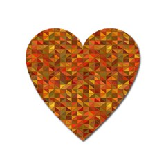 Gold Mosaic Background Pattern Heart Magnet by Nexatart