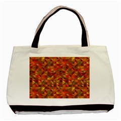 Gold Mosaic Background Pattern Basic Tote Bag by Nexatart
