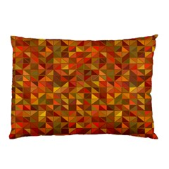 Gold Mosaic Background Pattern Pillow Case by Nexatart