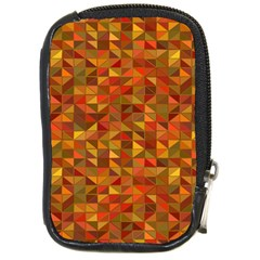 Gold Mosaic Background Pattern Compact Camera Cases by Nexatart