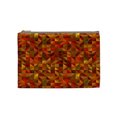 Gold Mosaic Background Pattern Cosmetic Bag (medium)  by Nexatart