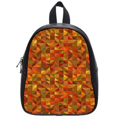 Gold Mosaic Background Pattern School Bags (small)  by Nexatart