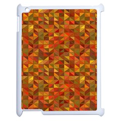 Gold Mosaic Background Pattern Apple Ipad 2 Case (white) by Nexatart