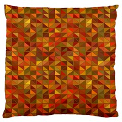 Gold Mosaic Background Pattern Large Cushion Case (one Side) by Nexatart