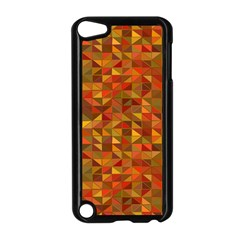 Gold Mosaic Background Pattern Apple Ipod Touch 5 Case (black) by Nexatart