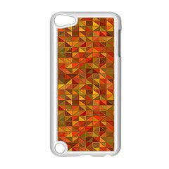 Gold Mosaic Background Pattern Apple Ipod Touch 5 Case (white) by Nexatart
